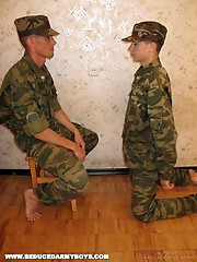 Young army boys getting  their asses full of fat, bad, big, old and dirty cocks from experienced army fuckers, that diddle newbies like bad.